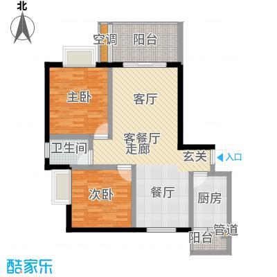 海龙居76.20㎡1号楼1号面积7620m户型