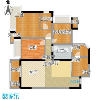 中海北滨华庭85.00㎡一期65号楼面积8500m户型