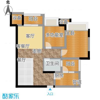 中海北滨华庭62.00㎡一期65号楼面积6200m户型