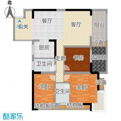 万象时代90.87㎡4号楼1号房面积9087m户型