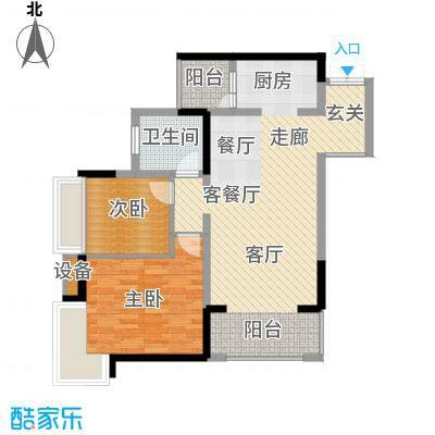 万象时代91.60㎡4号楼5号房面积9160m户型