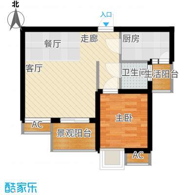 和坤和家园38.88㎡一居室面积3888m户型