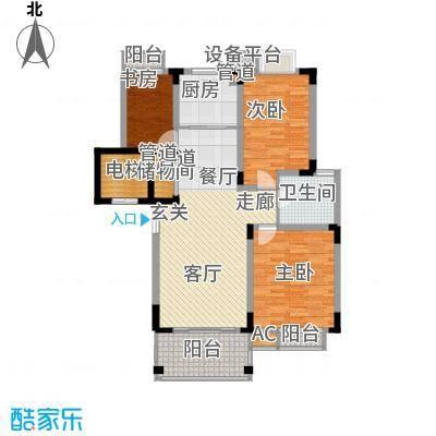 奥体新城丹枫园105.00㎡3面积10500m户型