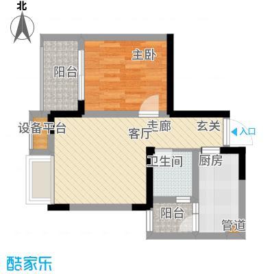 上城奥邻42.21㎡一期3、4号楼标面积4221m户型