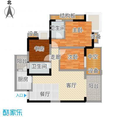 万象时代91.60㎡4号楼2号房面积9160m户型