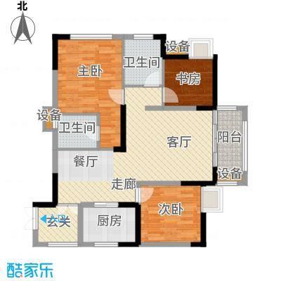 万象时代87.21㎡1号楼5、8号房面积8721m户型