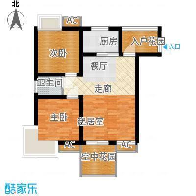 和坤和家园59.37㎡二居室面积5937m户型