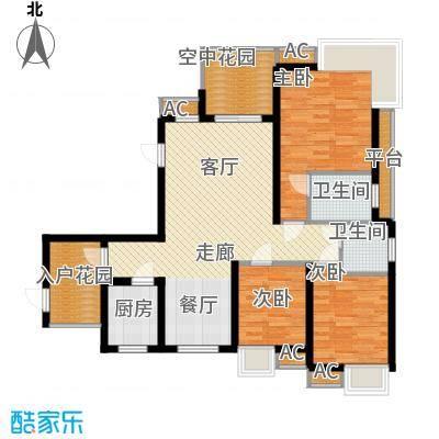 和坤和家园88.53㎡三居室面积8853m户型