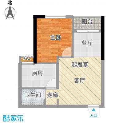 森柯一馨园43.38㎡1、6号房面积4338m户型