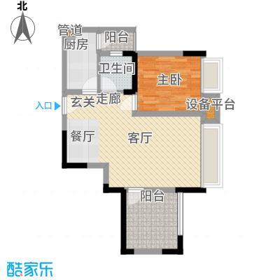 上城奥邻55.70㎡一期2号楼标准层面积5570m户型