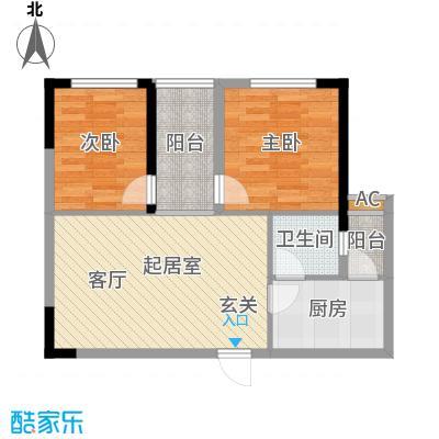 森柯一馨园58.56㎡7、10号房面积5856m户型