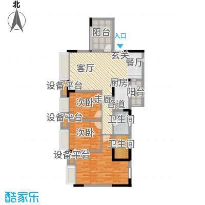 上城奥邻104.00㎡一期1、6号楼标面积10400m户型