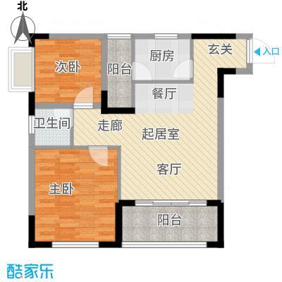 森柯一馨园66.24㎡8号房面积6624m户型