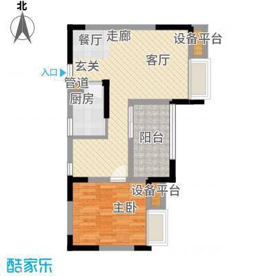 上城奥邻49.86㎡一期3号楼标准层面积4986m户型