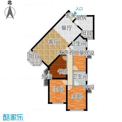 华丽家族118.45㎡面积11845m户型