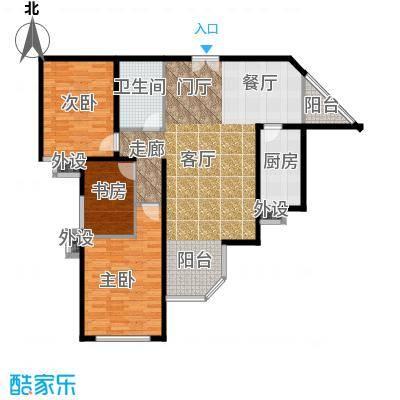 华丽家族108.43㎡面积10843m户型