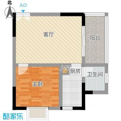 康德27度生活空间46.17㎡D型面积4617m户型