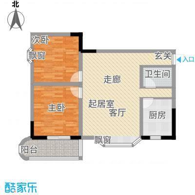 桂花景苑73.85㎡B栋B-1号面积7385m户型