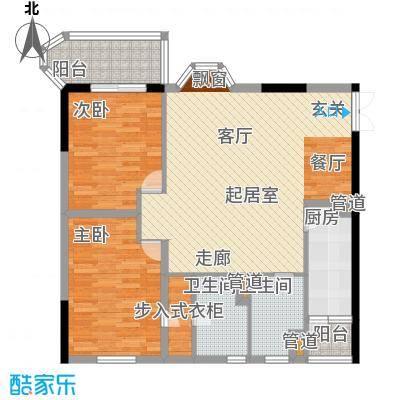 桂花景苑92.85㎡2面积9285m户型
