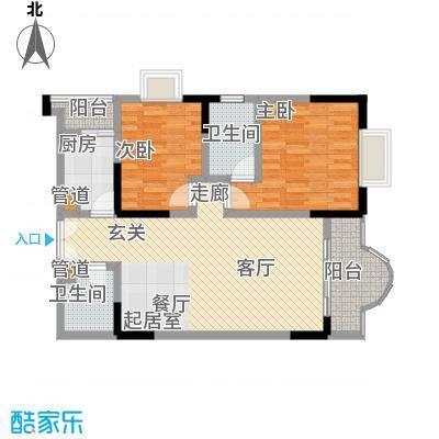 康德27度生活空间81.42㎡C型面积8142m户型