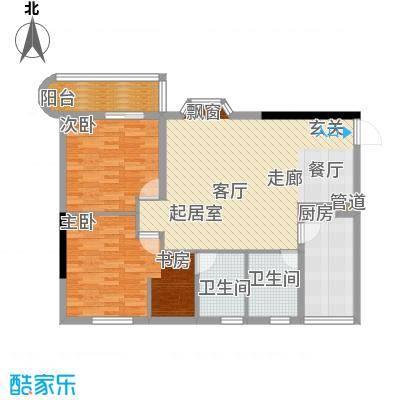 桂花景苑91.28㎡B栋B-6号面积9128m户型