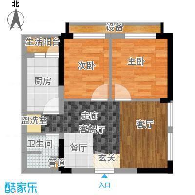 重庆国际家纺城绣色46.81㎡二期面积4681m户型