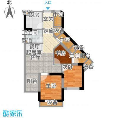 重庆国际家纺城绣色50.88㎡二期面积5088m户型