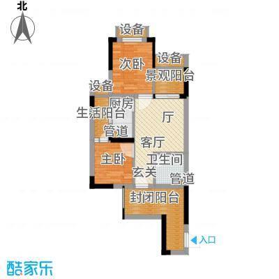 重庆国际家纺城绣色52.85㎡二期面积5285m户型