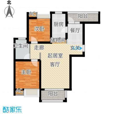 江佑铂庭93.00㎡面积9300m户型