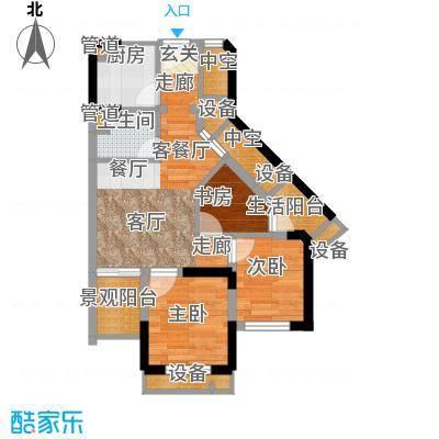 重庆国际家纺城绣色49.49㎡二期面积4949m户型