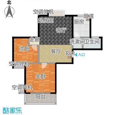 文鼎雅苑88.00㎡16号楼标准层A户面积8800m户型