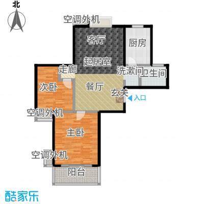 文鼎雅苑88.00㎡一期16#标准层G面积8800m户型