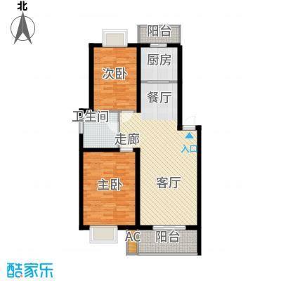 恒辉翡翠城89.07㎡面积8907m户型