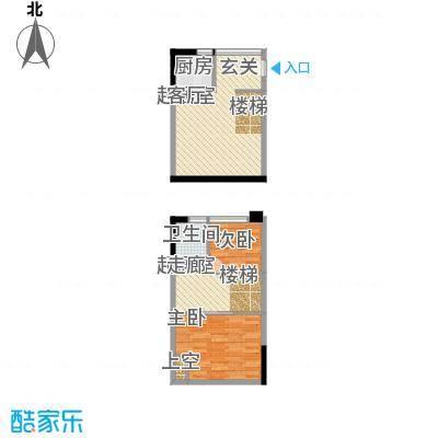 同景国际城香溪迈上51.02㎡一期面积5102m户型