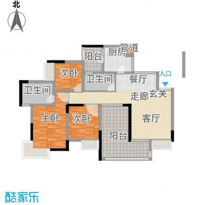 水木青华小小岛100.82㎡C型3号楼面积10082m户型