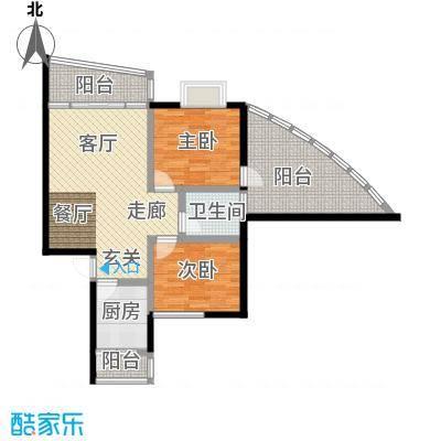 怡馨花园80.58㎡三阳台1面积8058m户型