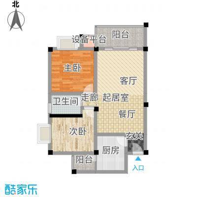 世纪阳光新尚城72.49㎡E2型面积7249m户型