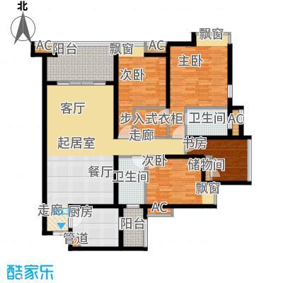 江与城景上时光120.00㎡1期T7号楼面积12000m户型