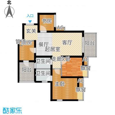 江与城景上时光87.00㎡1期T7号楼面积8700m户型
