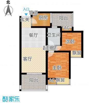 江与城景上时光75.00㎡1期T7号楼面积7500m户型
