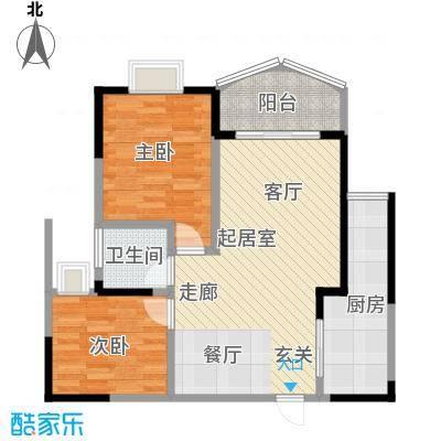 嘉新桃花里65.27㎡模范村6号2-2面积6527m户型