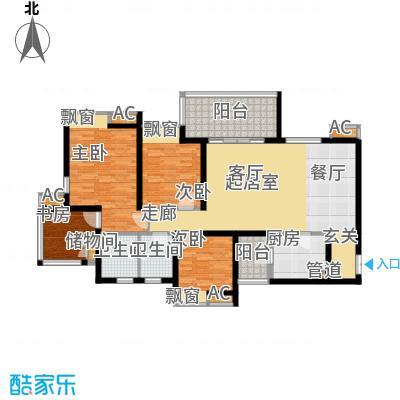 江与城景上时光113.00㎡1期T7号楼面积11300m户型
