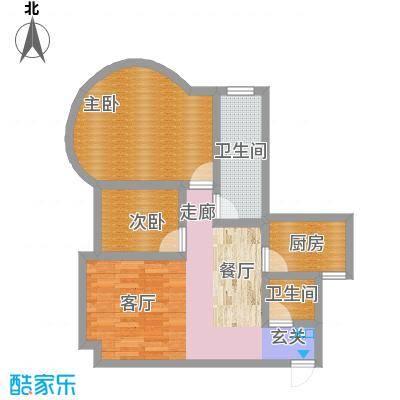康路蓝山日记84.16㎡b1(600)面积8416m户型
