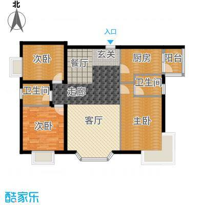 康路蓝山日记99.23㎡c-1-3(400)面积9923m户型