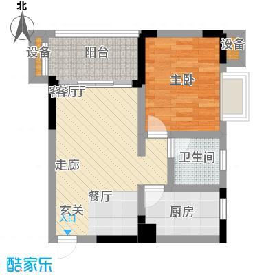 黄金堡宫44.91㎡B1号面积4491m户型