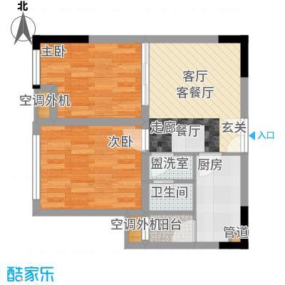 百康年奥运光年49.32㎡一期1号楼面积4932m户型