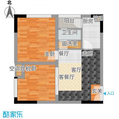 百康年奥运光年53.86㎡一期1号楼面积5386m户型