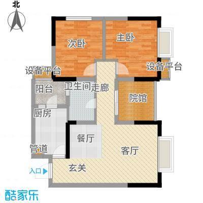建工北城乐章67.31㎡一期单体楼面积6731m户型