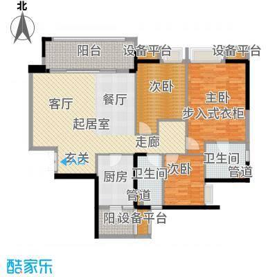 重庆天地雍江翠璟109.38㎡重庆天地雍江翠�一期4-面积10938m户型
