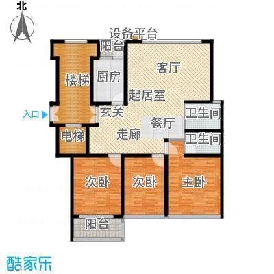 苏宁馨瑰园135.82㎡3面积13582m户型